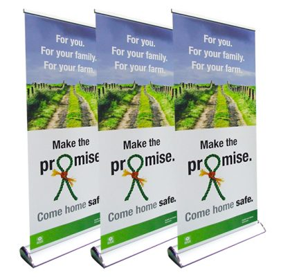 recoil deluxe roller banner bannerstand roll up compass manchester